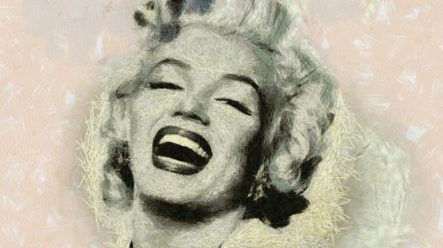 Smile Marilyn Monroe Painting Fine Art Print