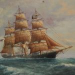 Son Famous Marine Artist Painting Clipper Ship The High Seas