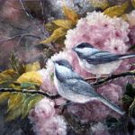 Songbird Study Oil Painting Canvas Depicting The Small Blue
