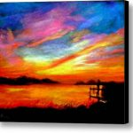 Southern Sunset Stretched Canvas Print Art Gail Kirtz