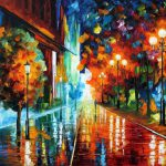 Street Hope Original Oil Canvas Painting Leonidafremov