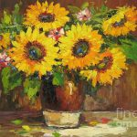 Sunflower Oil Painting Paintings Flower