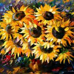 Sunny Bouquet Original Oil Canvas Painting Leonidafremov