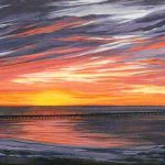 Sunset Acrylic Canvas Cms Commissioned Painting