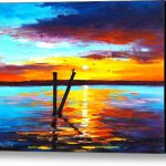 Sunset Lake Stretched Canvas Print Art Graham Gercken