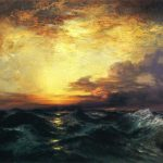Sunset Painting Offer Handmade Reproduction Pacific