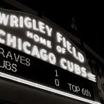 The Famous Wrigley Field Sign Black And White Fine Art Print