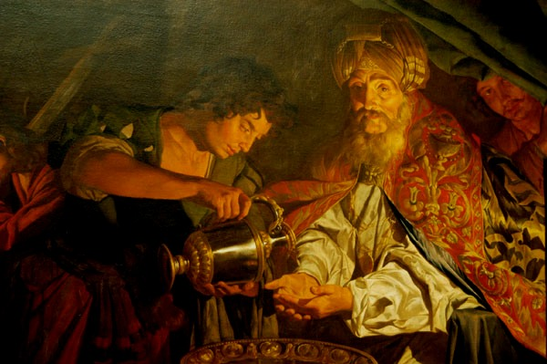 The First These Two Paintings Labelled Christ Before Pilate