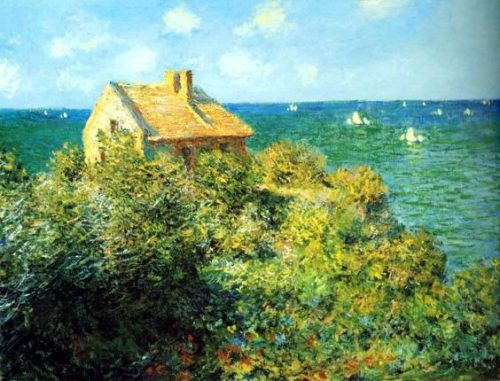 The Fisherman House Varengeville Painting Claude Monet