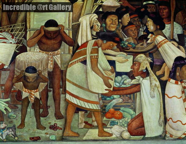 The Great City Tenochtitlan Detail Woman Selling Vegetables