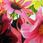 The Pink Flower Painting Floral Oil Marina Petro