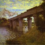 The Railway Bridge Argenteuil Oil Canvas Mus Orsay