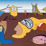 The Simpsons Salvatore Dali Persistence Memory Mock Painting