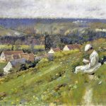 Theodore Robinson American Impressionist Painter Reading