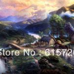 Thomas Kinkade Original Landscape Oil Painting The Lion King Art
