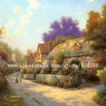 Thomas Kinkade Original Oil Painting Cobblestone Village Print