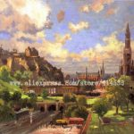 Thomas Kinkade Original Oil Painting Edinburgh Scotland Art Print
