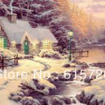 Thomas Kinkade Original Oil Painting Streams Living Water Art