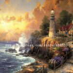 Thomas Kinkade Original Oil Painting The Light Peace Print