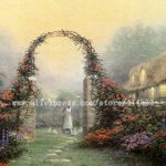 Thomas Kinkade Original Oil Painting The Rose Arbor Cottage Print