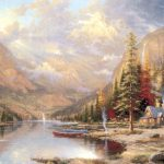 Thomas Kinkade Original Painting For Sale Glory Road