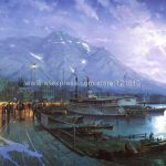 Thomas Kinkade Prints Original Oil Painting Birth City