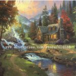 Thomas Kinkade Prints Original Oil Painting Mountain Paradise