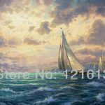 Thomas Kinkade Prints Original Oil Painting Seascape New Horizons