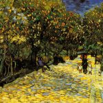 Tree Lined Avenue Painting Vincent Van Gogh