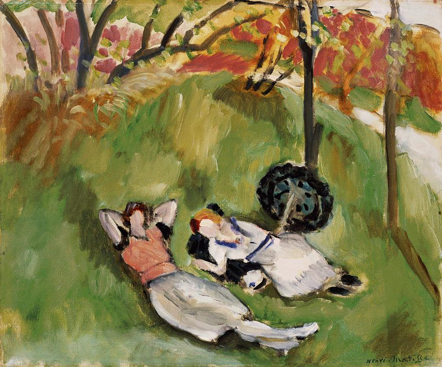 Two Figures Reclining Landscape