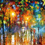 Unexpected Meeting Original Oil Canvas Painting Leonidafremov