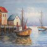 Unframed Boat Painting Special Offer Oil Yayuan