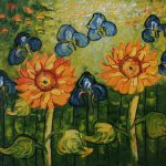 Van Gogh Sunflower Painting Fascinating Sunflowers Full Bloom