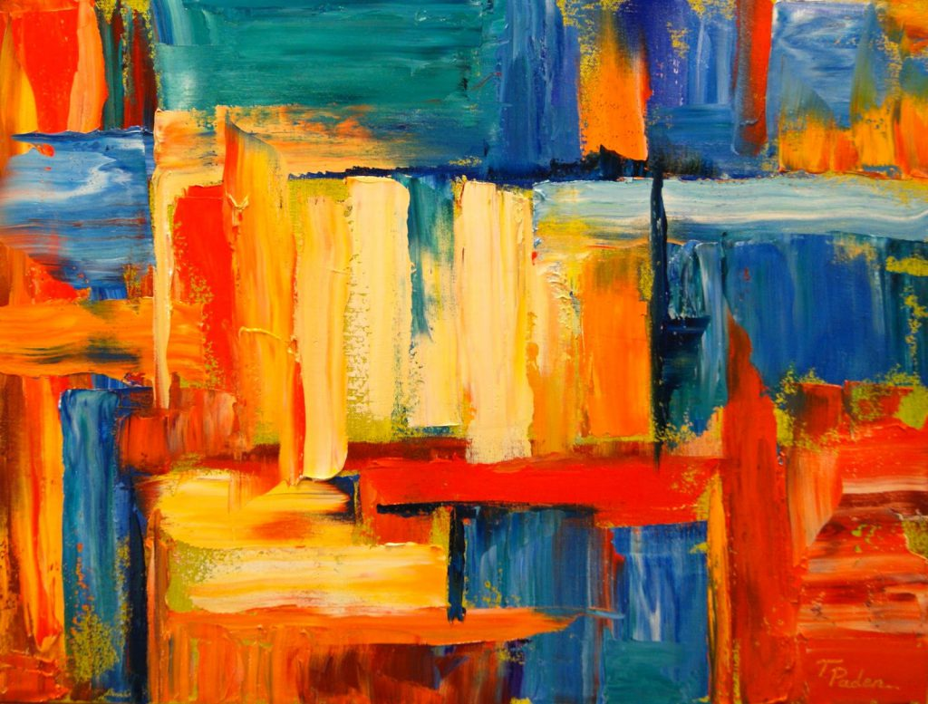 Vibrant Original Abstract Oil Painting