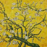 Vincent Van Gogh Branches Almond Tree Blossom Yellow Painting