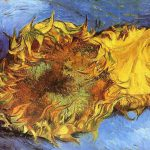 Vincent Van Gogh Paintings Two Cut Sunflowers