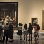 Visitors Look Paintings Spanish Artist Diego Vel Zquez The