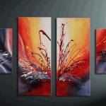 Wall Art Abstract Canvas Sets Acrylic Painting Pcs