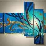Wall Art Paintings Canvas Hand Painted Pop Modern Home Decor