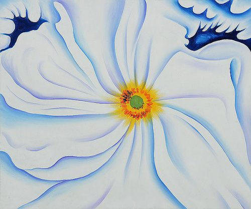White Flower Georgia Keeffe Famous Painting