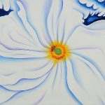 White Flower Georgia Keeffe Painting