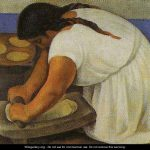 Woman Grinding Maize Molendera Diego Rivera