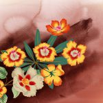 Yellow Inner Part Red Flower Paintings