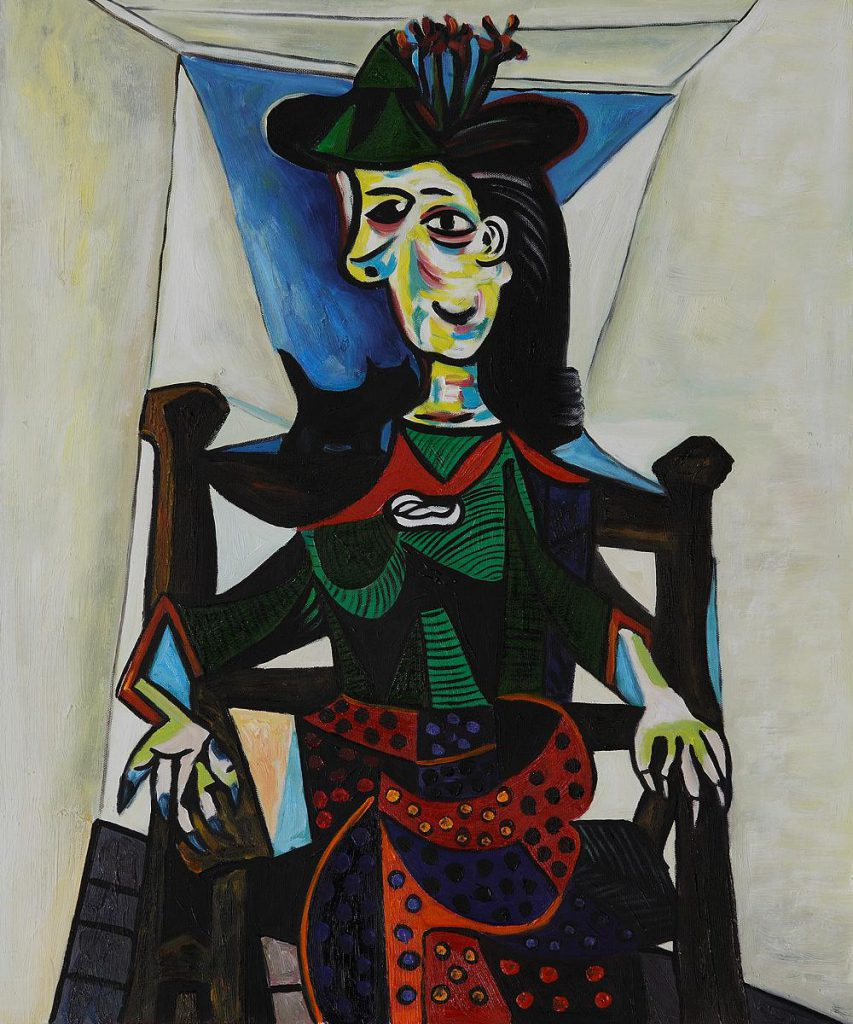 Abstract Art Dora Maar Chat Pablo Picasso Oil Painting Canvas High Quality Hand