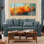 Abstract Art Sofa Sized Triptych