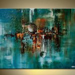 Abstract Art Teal Turquoise Painting Osnatfineart