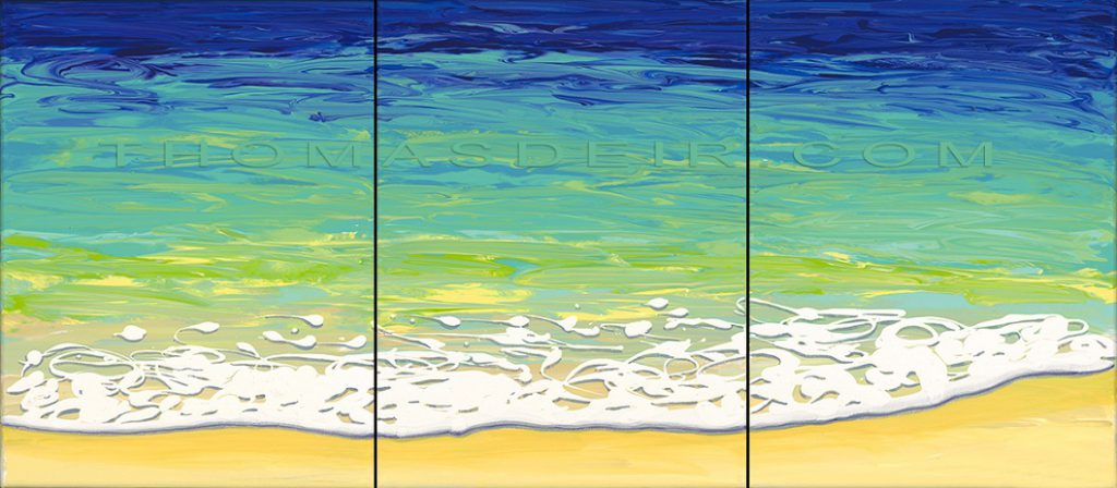 Abstract Beach Paintings Archive Thomas Deir Honolulu