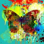 Abstract Butterfly Painting Gary