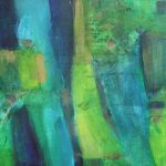 Abstract Green Painting Janet