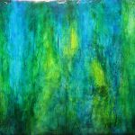 Abstract Green Paintings